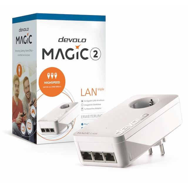 DEVOLO »(2400Mbit, Powerline, 3x GbitLAN, Heimnetz)« LAN-Router