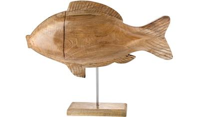 GILDE Dekofigur »Deko Fisch Flip«, Dekoobjekt, Tierfigur, Höhe 39 cm, aus Holz,... kaufen