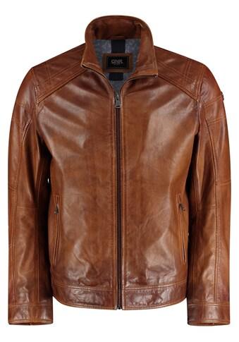 DNR Jackets Lederjacke, mit Kontrastfutter und Eingrifftaschen kaufen
