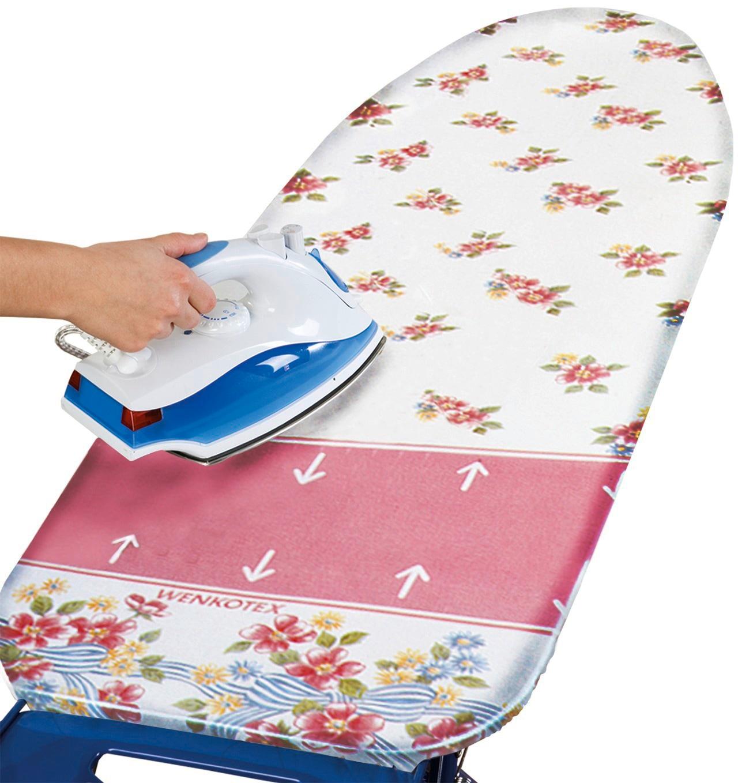 WENKO Bügelbrettbezug Blume Technik & Freizeit/Elektrogeräte/Haushaltsgeräte/Bügeleisen & Bügelstationen/Zubehör für Bügeleisen