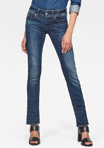 G-Star RAW Straight-Jeans »Midge Saddle Straight«, 5-Pocket-Design mit markanten... kaufen