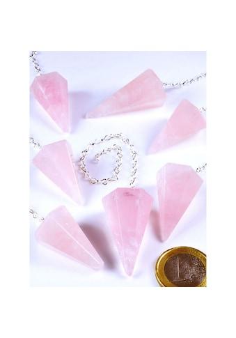 Adelia´s Kettenanhänger »Rosenquarz Trommelstein / Mineralie« kaufen