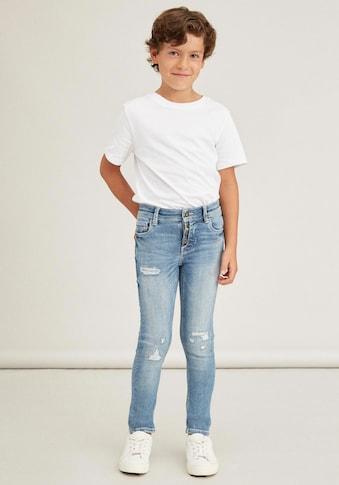 Name It Destroyed-Jeans »PETE«, mit Dekoknöpfen vorn am Schlitz kaufen