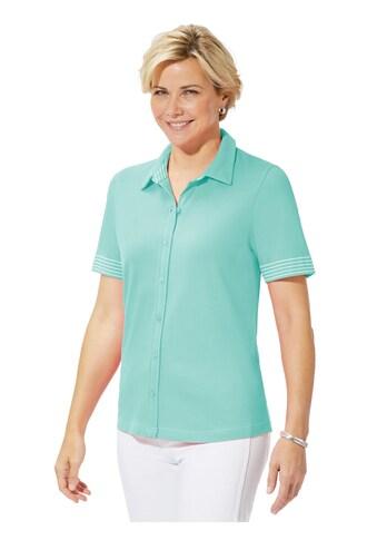 Casual Looks Shirt mit gestreiften Blenden kaufen