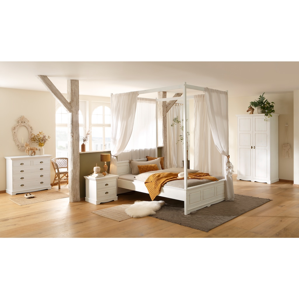 Home affaire Himmelbettgarnitur »Eva«, aus Kiefer massiv