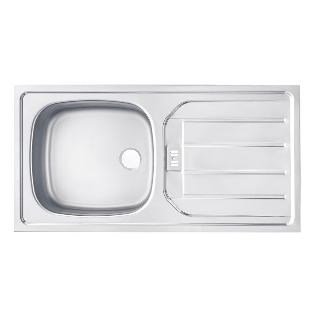 wiho Küchen Spülenschrank »Esbo«, 110 cm breit, inkl. Tür/Sockel für Geschirrspüler