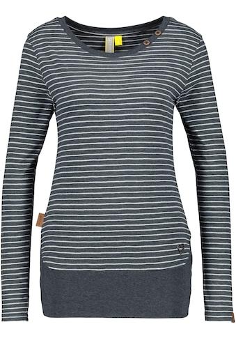 Alife & Kickin T-Shirt »CocoAK«, Langarmshirt im Basic- Look mit Kontrast-Details kaufen
