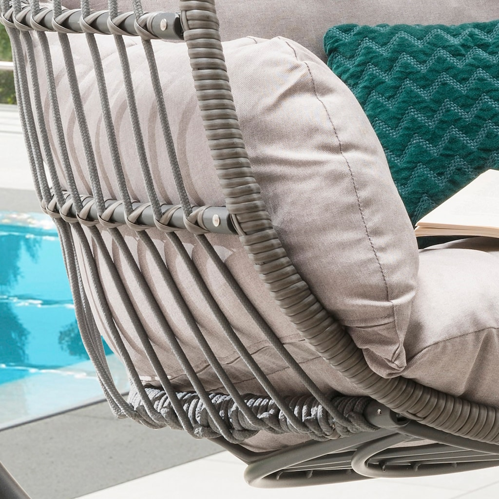 Destiny Hängestuhl »Coco Relax«, Polyrattan/Stahl, inkl. Sitz- und Rückenkissen