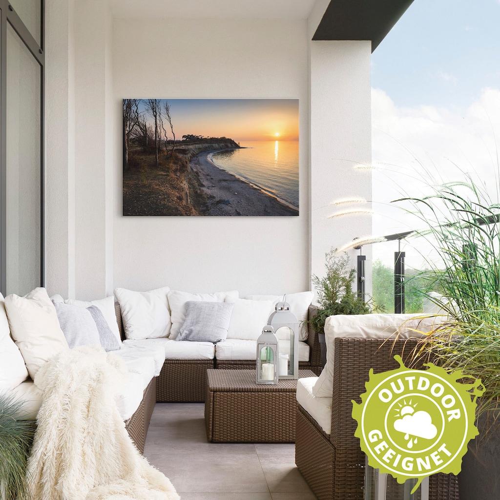 Artland Wandbild »Sonnenuntergang auf Rügen«, Küste, (1 St.), in vielen Größen & Produktarten - Alubild / Outdoorbild für den Außenbereich, Leinwandbild, Poster, Wandaufkleber / Wandtattoo auch für Badezimmer geeignet