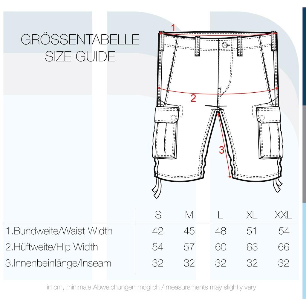 Solid Cargoshorts »Vizela«, kurze Hose mit Used Look Effekt