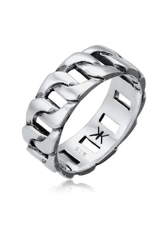 Kuzzoi Silberring »Herren Chunky Chain Look Panzerglieder 925 Silber« kaufen