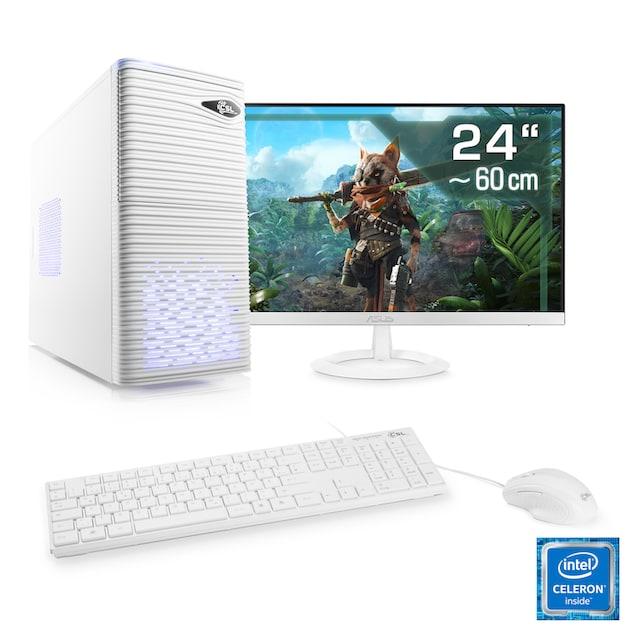 "CSL Office PC Set | Intel Quad Core | 8 GB RAM | SSD | 24"" TFT »Speed T1383 Windows 10 Home«"