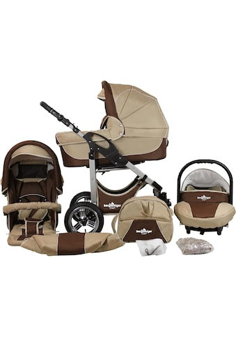 "bergsteiger Kombi - Kinderwagen ""Capri, coffee & brown, 3in1"", (10 - tlg.) kaufen"