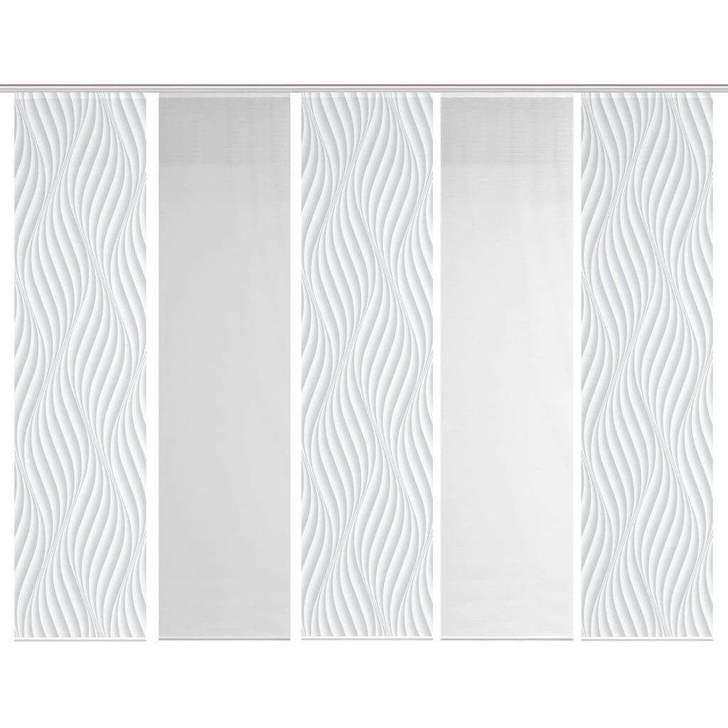 Vision S Schiebegardine »5ER SET WAVE«, HxB: 260x60, Schiebevorhang 5er Set Digitaldruck