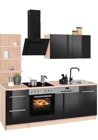 HELD MÖBEL Küchenzeile »Brindisi«, mit E-Geräten, Breite 220 cm kaufen