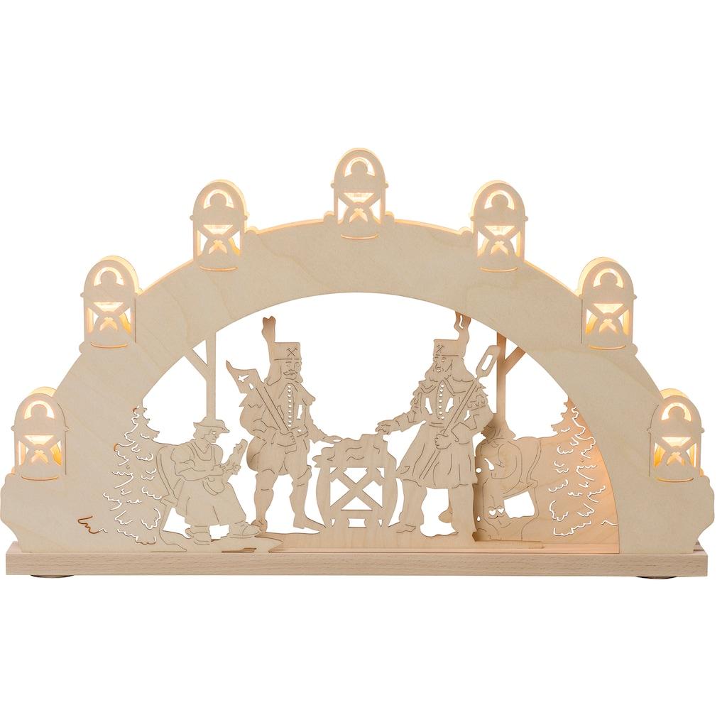 Weigla LED Schwibbogen »Bergmann«, 1 tlg., 7-flammig