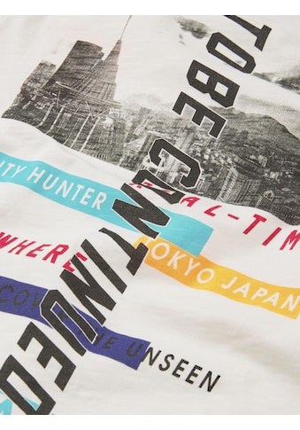TOM TAILOR T - Shirt »T - Shirt mit beidseitigem Print« kaufen