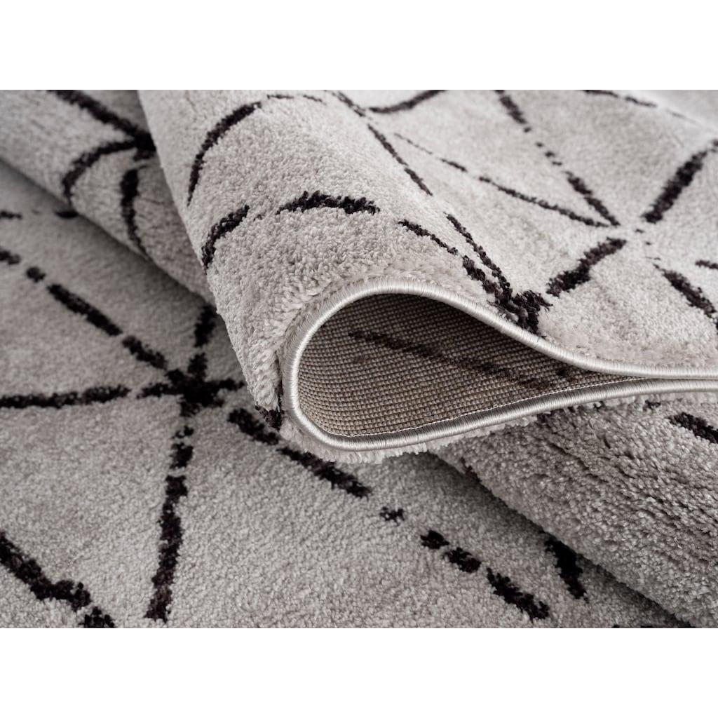 Home affaire Teppich »Jamal«, rechteckig, 12 mm Höhe, Besonders weich durch Microfaser, Wohnzimmer