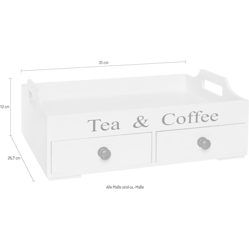 Myflair Möbel & Accessoires Tablett »Tjarda«, mit 2 Schubladen