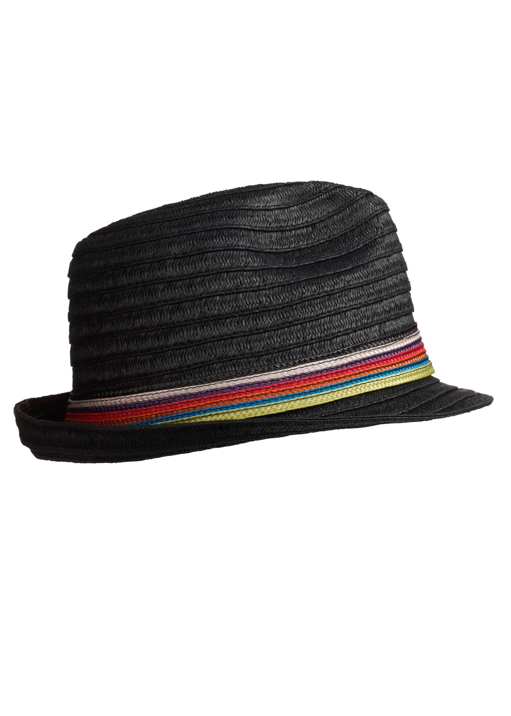 STÖHR Strohhut mit Streifen | Accessoires > Hüte > Strohhüte | Bunt | Stoehr