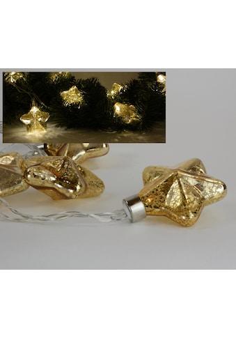 Lichterkette, mit Sterne, Länge ca. 30 cm kaufen