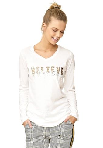 Decay Langarmshirt »Believe«, mit Paillettenaufdruck kaufen