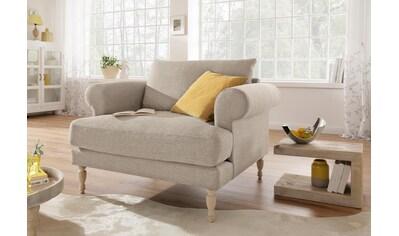 Home affaire Sessel »Lex«, gedrechselte Holzfüße, 3 Qualitäten, lose Kissen kaufen
