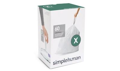 simplehuman Müllbeutel passgenaue Müllbeutel Nachfüllpack code X kaufen