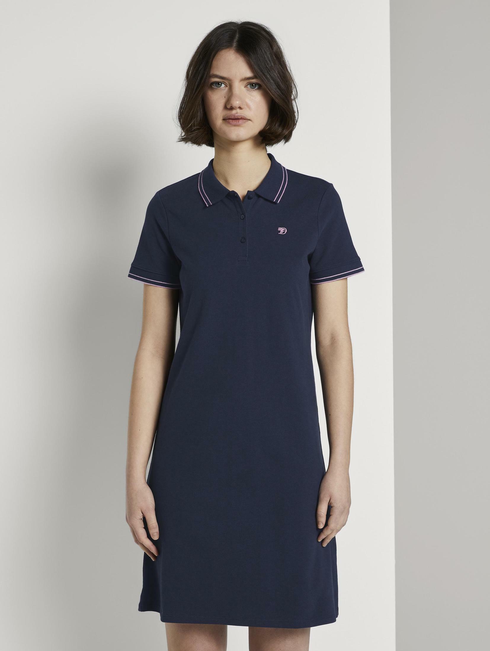 TOM TAILOR Denim Shirtkleid Mini Polokleid Damenmode/Bekleidung/Kleider/Shirtkleider