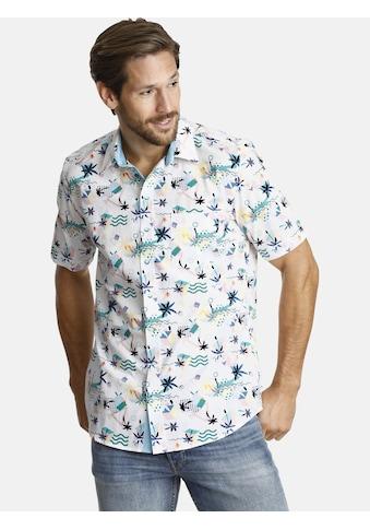 SHIRTMASTER Kurzarmhemd »summerinflorida«, mit zweifarbigen Knöpfen kaufen