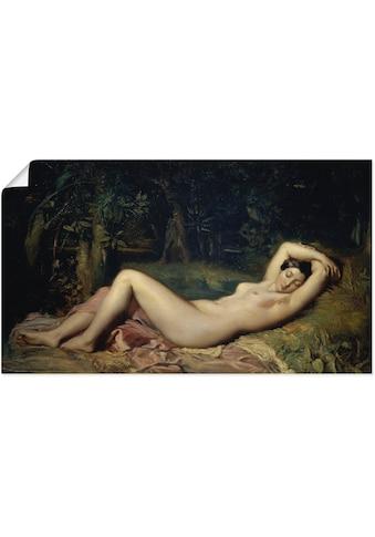 Artland Wandbild »Schlafende Nymphe.«, Frau, (1 St.), in vielen Größen & Produktarten... kaufen