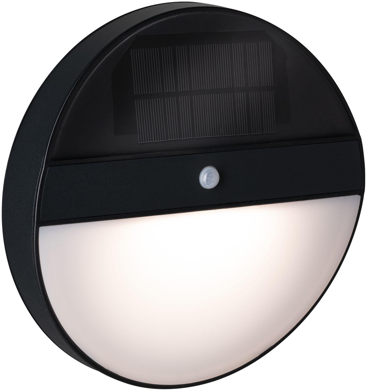 Paulmann LED Außen-Wandleuchte Elois, LED-Board, 1 St., Warmweiß, Solar, mit Bewegungsmelder