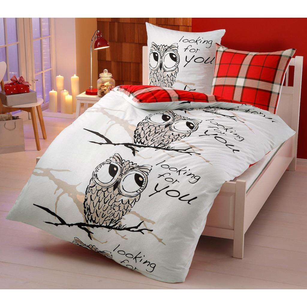 my home Wendebettwäsche »Owl«, mit süßer Eule