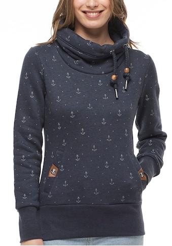 """Ragwear Plus Sweater »RYLIE MARINA PLUS«, mit maritimen Allover """"Anker""""-Druck kaufen"""