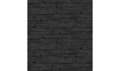 Superfresco Easy Vliestapete »Steine/Wand«, Steinoptik, Schwarz - 10m x 52cm kaufen