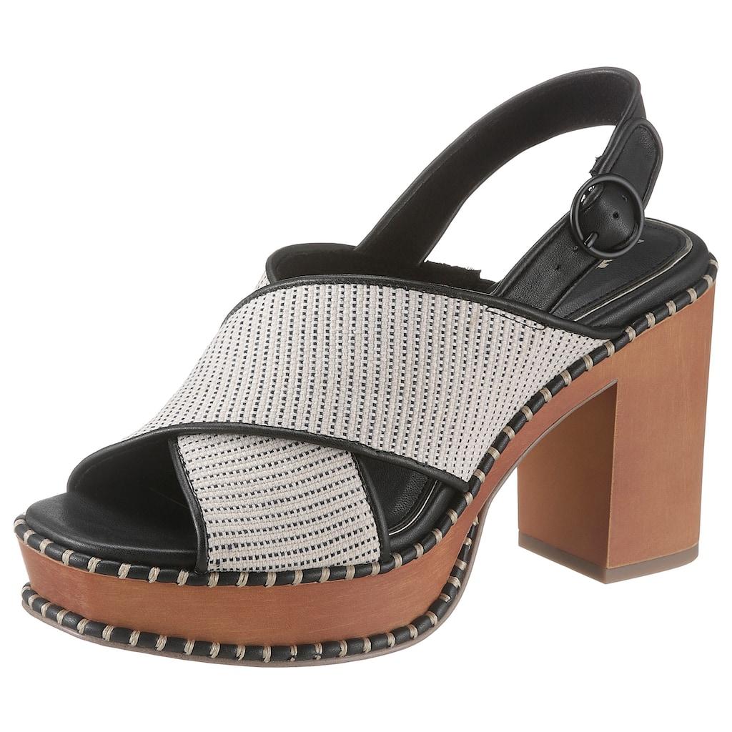 Tamaris High-Heel-Sandalette »Claudie«, im modischen Retro-Look