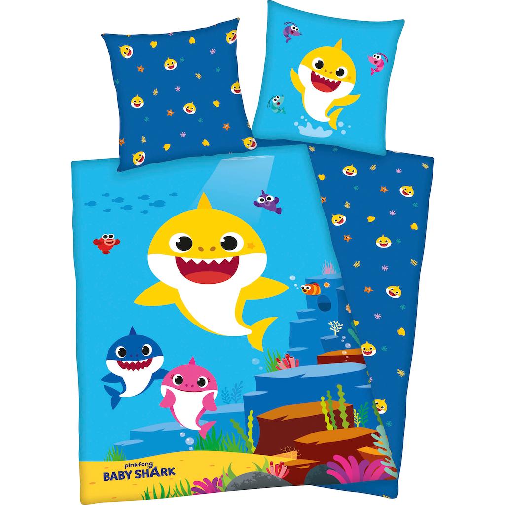 Kinderbettwäsche »Baby Shark«, mit niedlichem Baby Shark Motiv