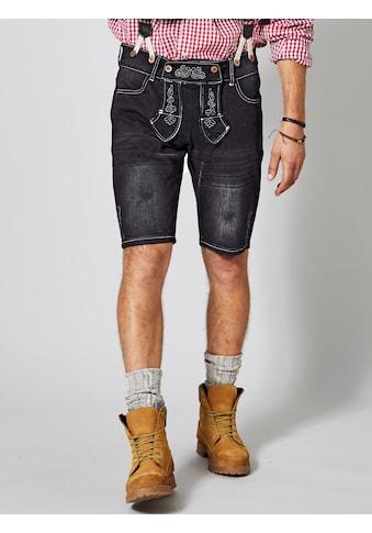 Men Plus by HAPPYsize Jeansbermuda im Trachten - Look inkl. Hosenträger kaufen