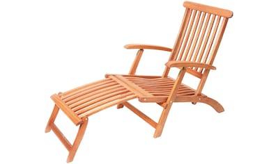 MERXX Gartensessel »Deck Chair«, Eukalyptusholz, verstellbar, klappbar kaufen