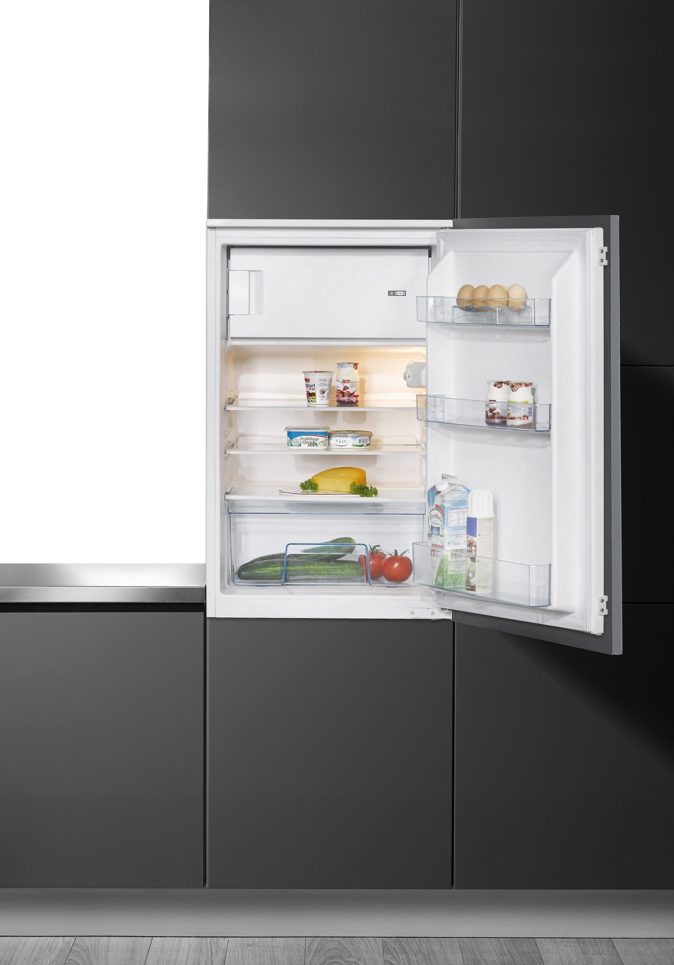 Amica Kühlschrank Fächer : Amica integrierbarer einbau kühlschrank eks a cm baur