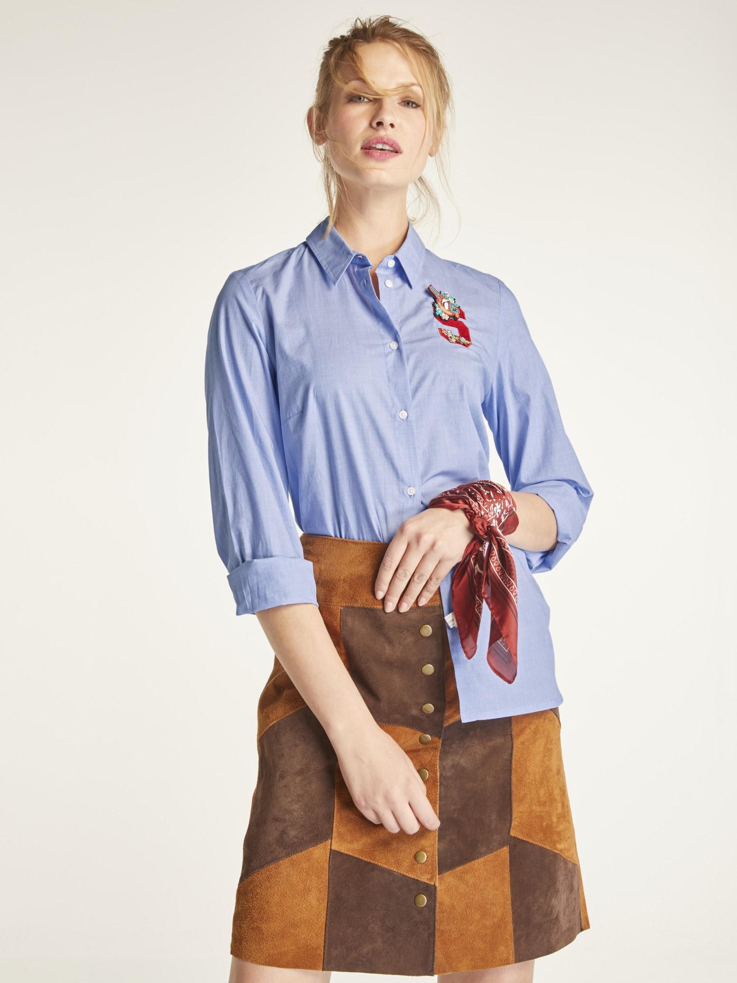 heine CASUAL Hemdbluse mit dekorativem Batch