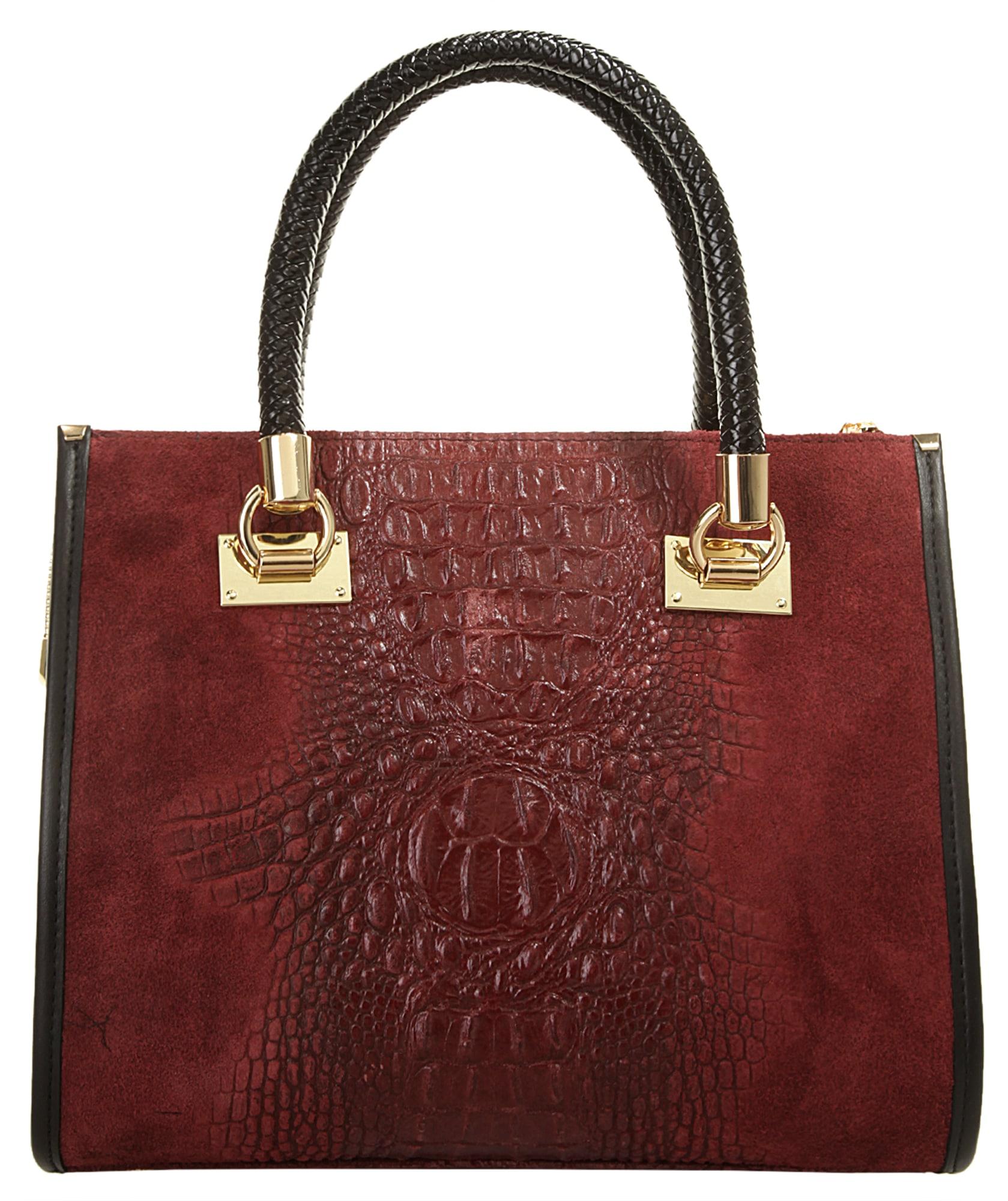 Cluty Henkeltasche   Taschen > Handtaschen > Henkeltaschen   Braun   Leder   Cluty