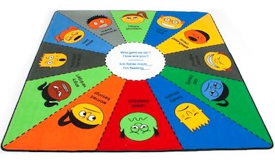 Primaflor-Ideen in Textil Kinderteppich »EMOTIONS«, rechteckig, 5 mm Höhe, Spielteppich, Emotionen lernen kaufen