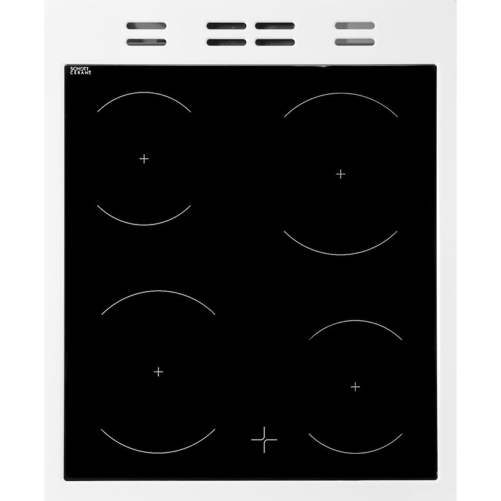 BEKO Elektro-Standherd »FSM57100GW«, FSM57100GW, Simple Steam Reinigungsfunktion