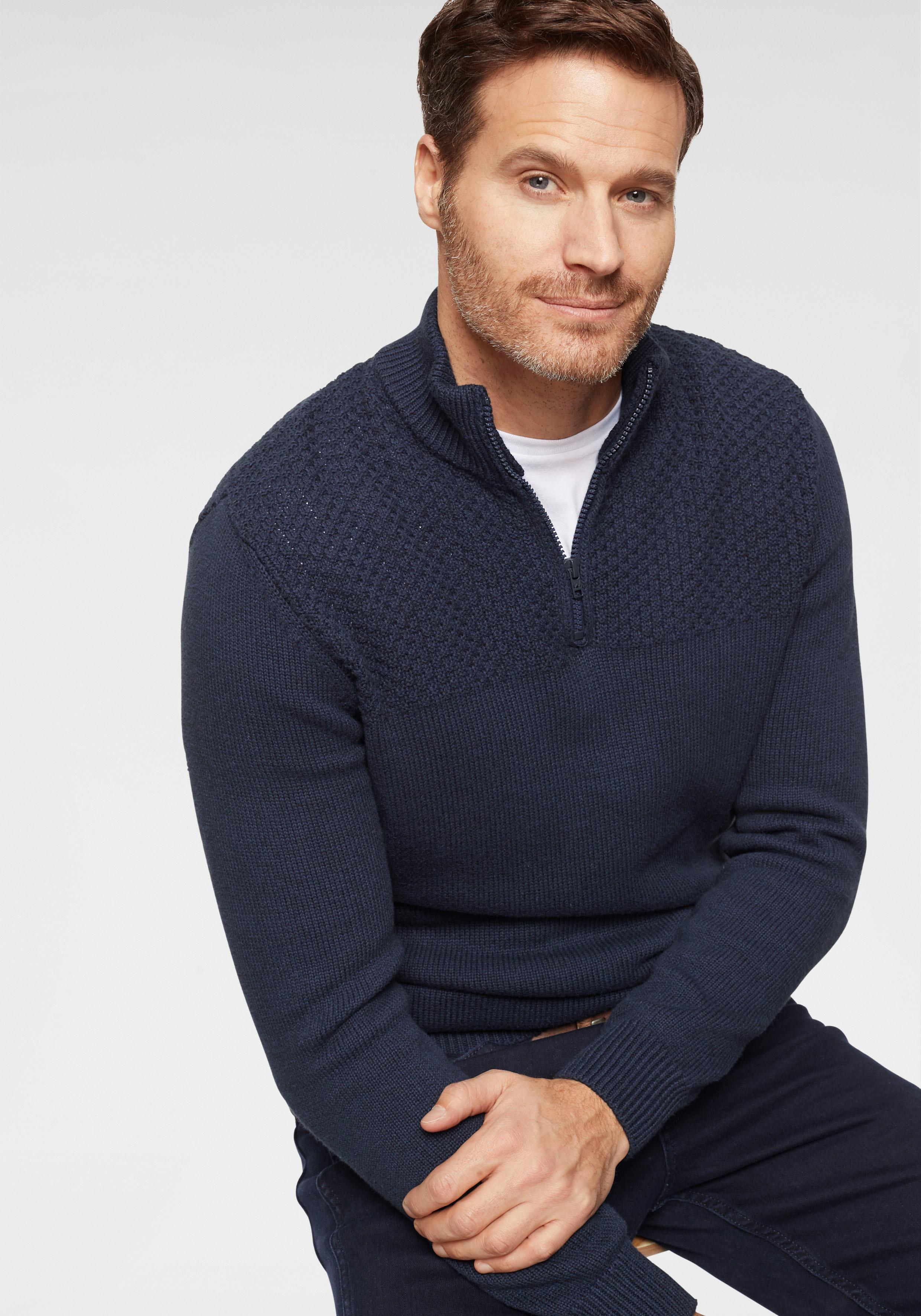 Wrangler Troyer HALF ZIP KNIT | Bekleidung > Pullover > Troyer | Blau | Wrangler