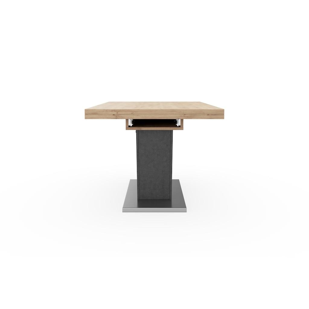 Mäusbacher Esstisch »Komfort D«, mit V-Gestell in graphit und mit Auszugsfunktion, Breite 160-260 cm