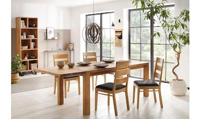 Home affaire Essgruppe »Nils 5«, (Set, 5 tlg., Tisch 180/90 cm, 4 Stühle, Polstersitz), aus Massivholz kaufen