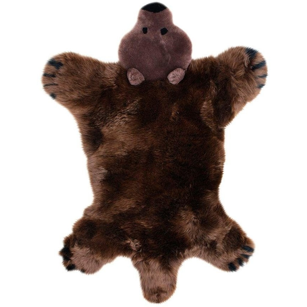 Heitmann Felle Fellteppich »Spielteppich Bär«, fellförmig, 40 mm Höhe, Kinderteppich, echtes Lammfell