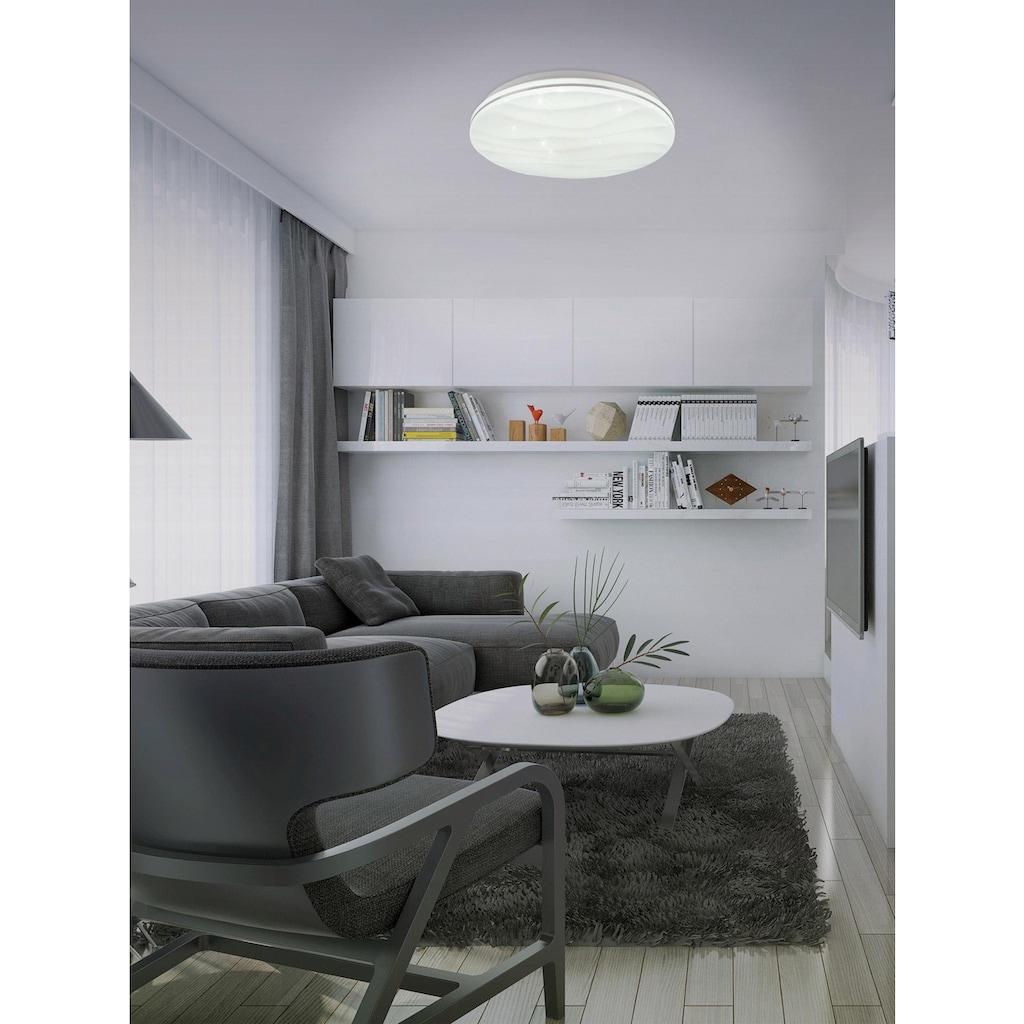 näve LED Deckenleuchte »Austin«, LED-Board, Kaltweiß-Neutralweiß-Warmweiß, Sternenhimmel, Deckenlampe Ø 38 cm, tuya Smart Home, Farbtemperatursteuerung CCT 3000 - 6000 K
