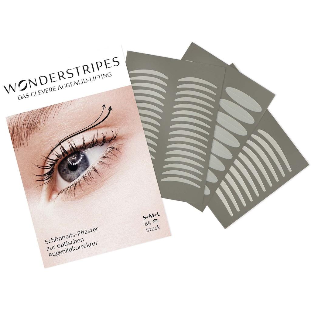 WONDERSTRIPES Augenlid-Tape »Starter-Set«, (Set, 5 tlg.), Augenlid-Korrektur Pflaster in 3 Größen & Erfrischendes Tonic